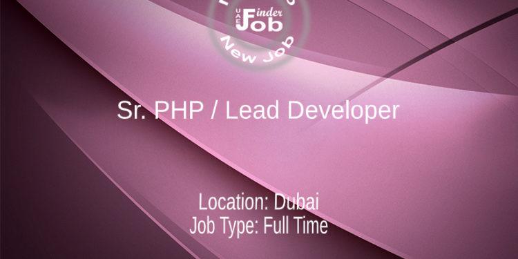 Sr. PHP / Lead Developer