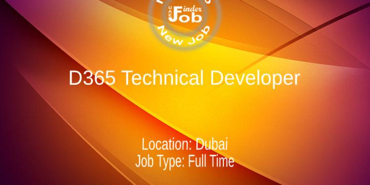 D365 Technical Developer