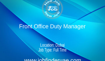 Front Office Duty Manager