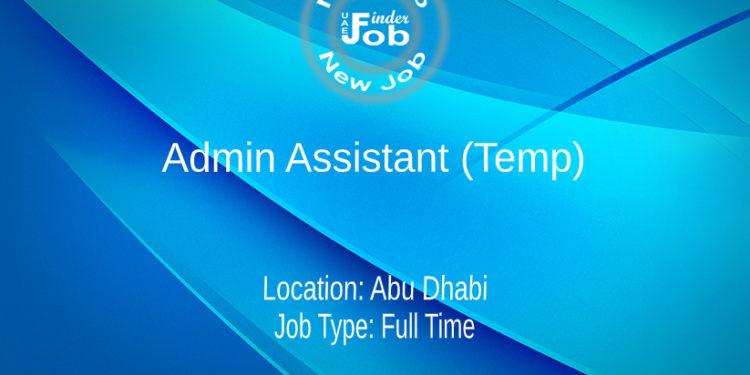 Admin Assistant (Temp)