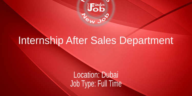 Internship After Sales Department