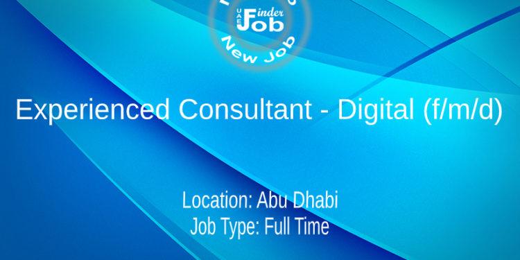 Experienced Consultant - Digital (f/m/d)