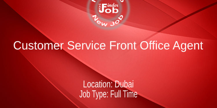 Customer Service Front Office Agent