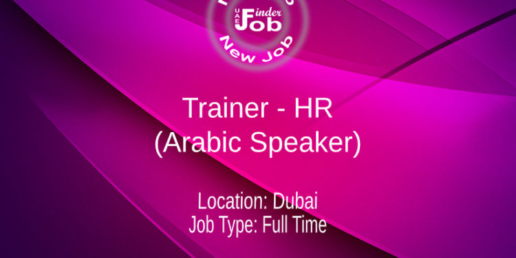 Trainer - HR (Arabic Speaker)