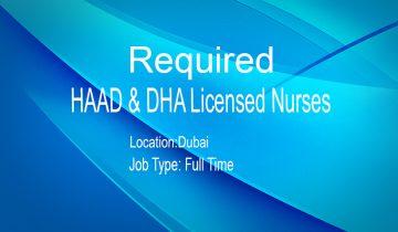 HAAD & DHA Licensed Nurses