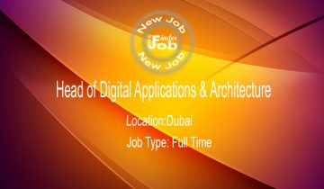 Head of Digital Applications & Architecture