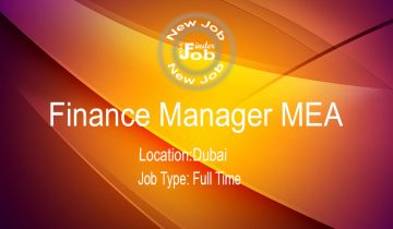 Finance Manager MEA