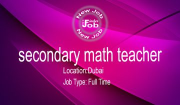 secondary math teacher