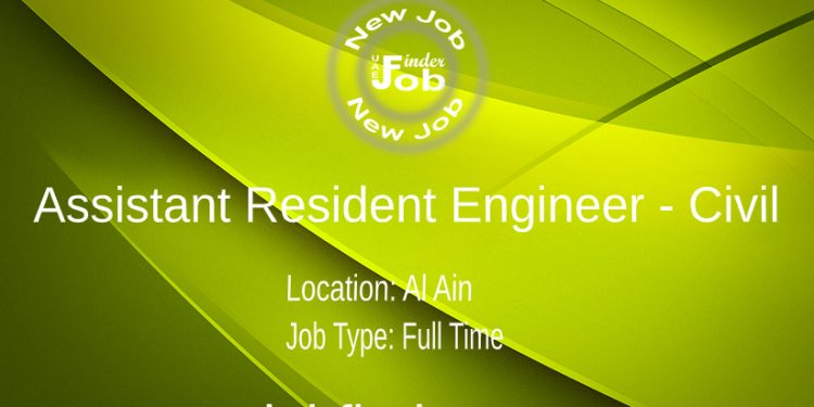 Assistant Resident Engineer - Civil