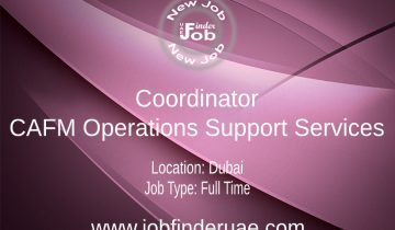 Coordinator - CAFM Operations Support Services