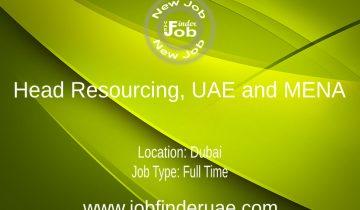 Head Resourcing, UAE and MENA