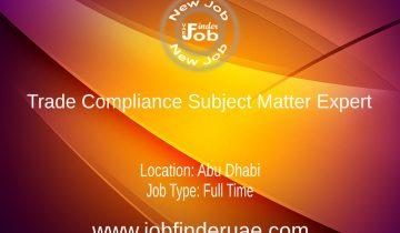 Trade Compliance Subject Matter Expert