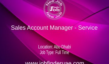 Sales Account Manager - Service