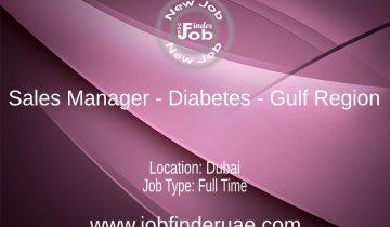 Sales Manager - Diabetes - Gulf Region