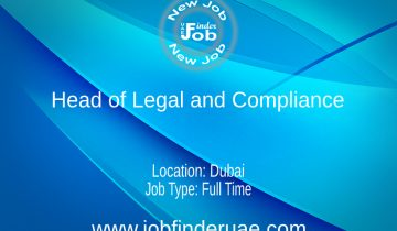 Head of Legal and Compliance