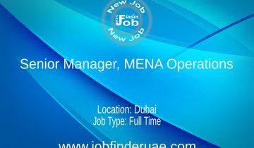 Senior Manager MENA Operations
