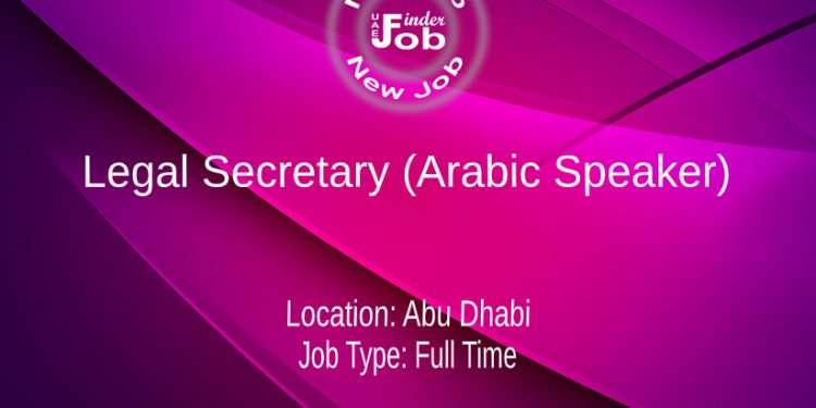 Legal Secretary (Arabic Speaker)