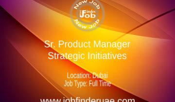 Sr. Product Manager - Strategic InitiativesSr. Product Manager - Strategic Initiatives