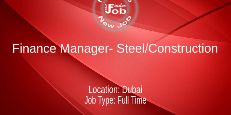 Finance Manager- Steel/Construction