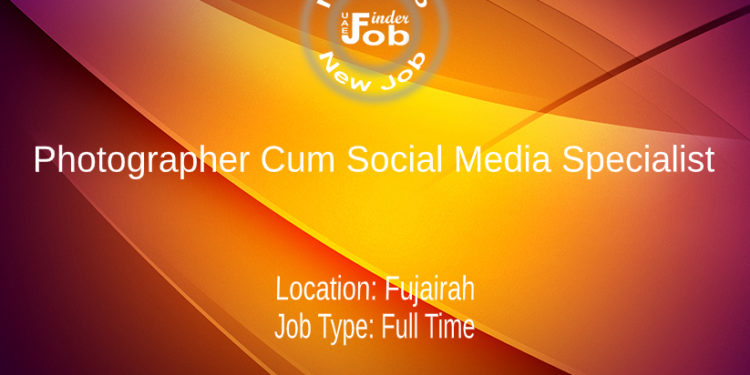 Photographer Cum Social Media Specialist