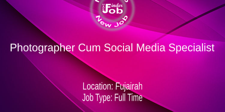 Photographer Cum Social Media Specialist