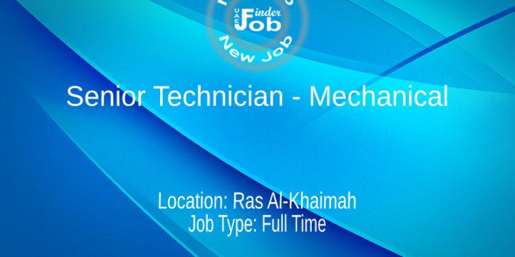 Senior Technician - Mechanical