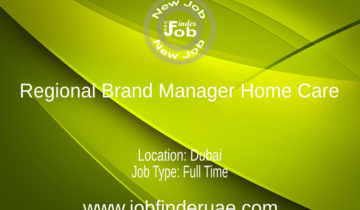 Regional Brand Manager Home Care
