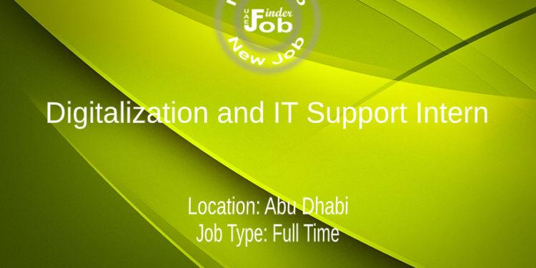 Digitalization and IT Support Intern