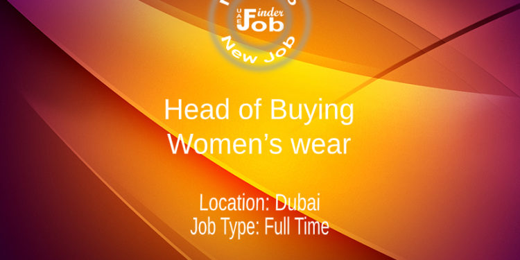Head of Buying – Women's wear