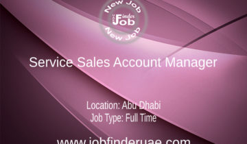 Service Sales Account Manager