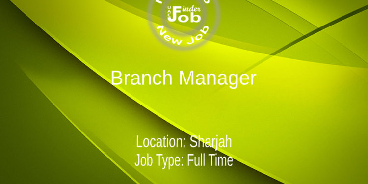 Branch Manager - Arabic Nationality
