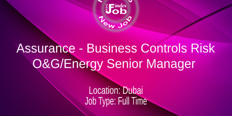 Assurance - Business Controls Risk - O&G/Energy Senior Manager