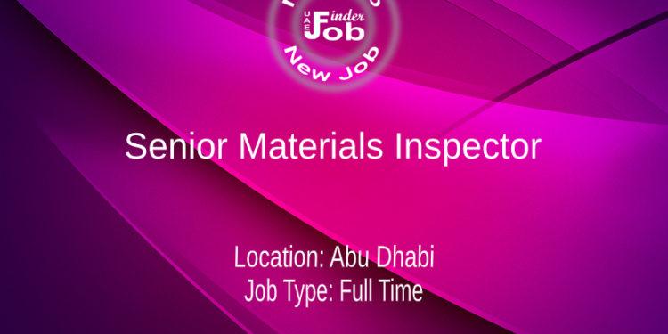Senior Materials Inspector