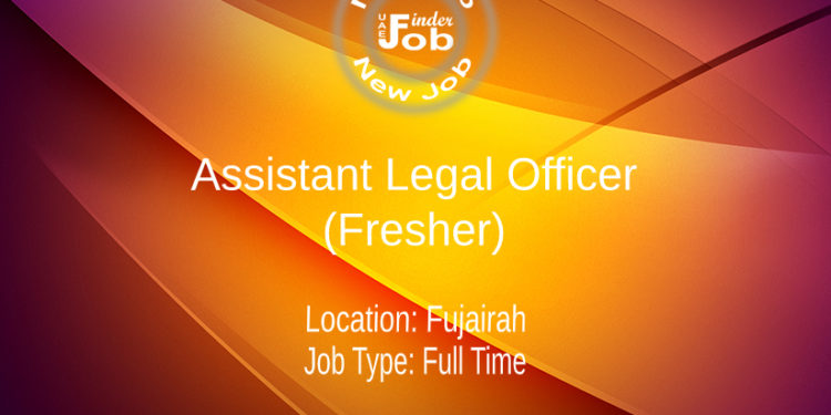 Assistant Legal Officer (Fresher)
