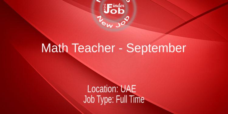 Math Teacher - September