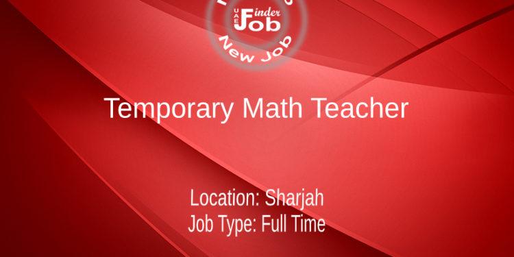 Temporary Math Teacher