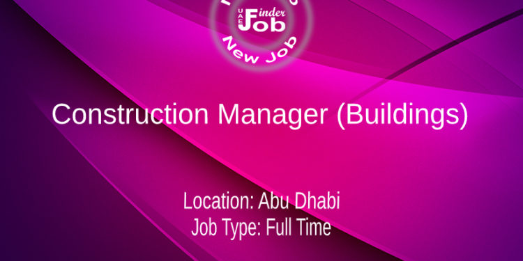 Construction Manager (Buildings)