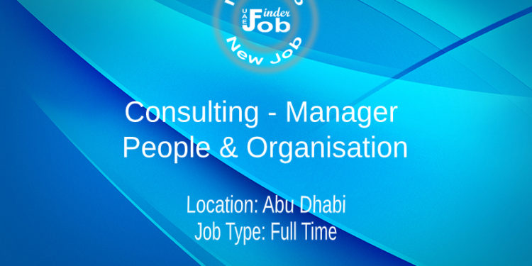 Consulting - Manager - People & Organisation