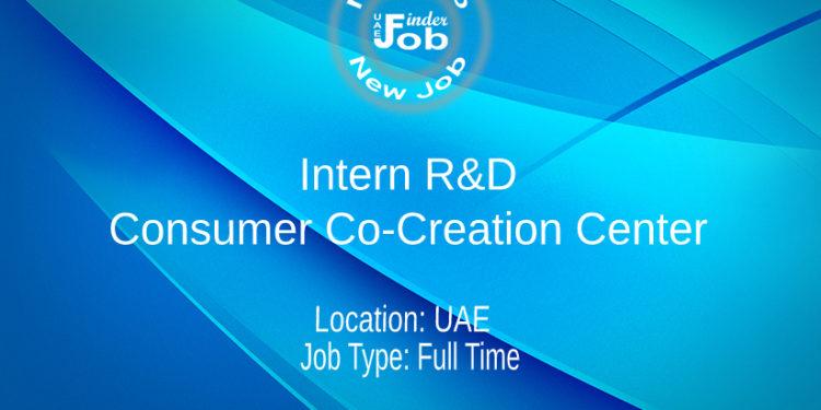 Intern R&D Consumer Co-Creation Center