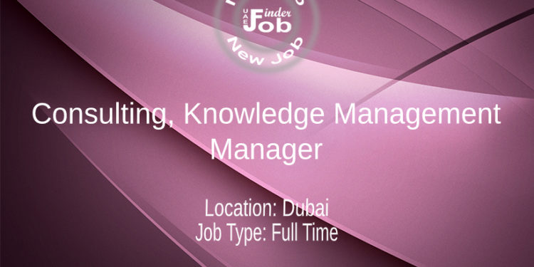 Consulting, Knowledge Management - Manager