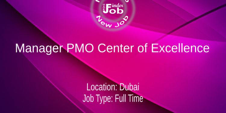 Manager PMO Center of Excellence