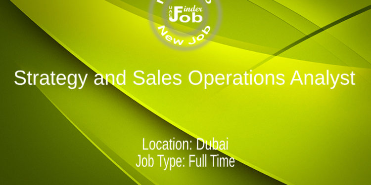 Strategy and Sales Operations Analyst
