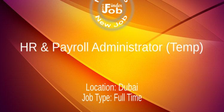 HR & Payroll Administrator (Temp)