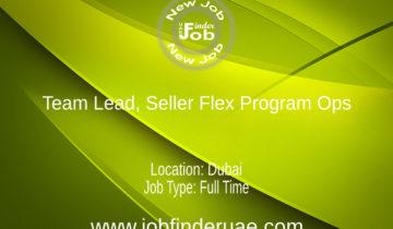 Team Lead, Seller Flex Program Ops