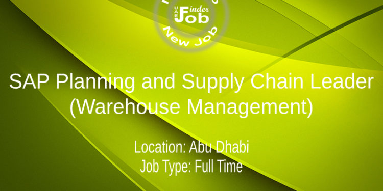 SAP Planning and Supply Chain Leader (Warehouse Management)