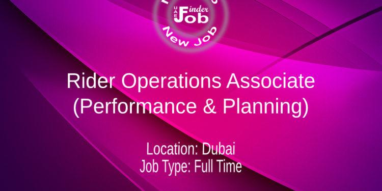 Rider Operations Associate (Performance & Planning)