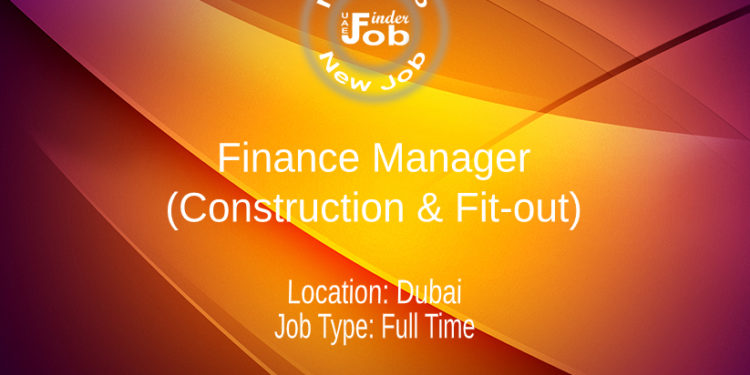 Finance Manager (Construction & Fit-out)