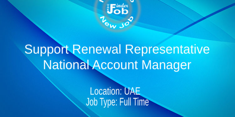 Support Renewal Representative / National Account Manager
