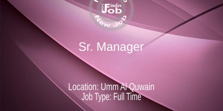 Sr. Manager