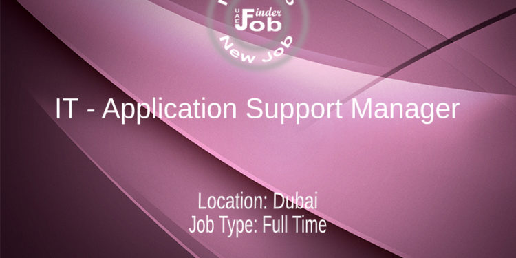 IT - Application Support Manager